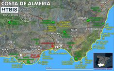 The best infographic on the Costa de Almería - How to buy in Spain Best Golf Club Sets, Best Golf Clubs, Nevada National Parks, Spain Holidays, Natural Park, Balearic Islands, Sierra Nevada, Andalusia, Spain Travel