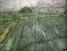 Vincent van Gogh (Dutch, 1853-1890), Wheat Field in Rain, 1889. Oil on canvas,  73.5 x 92.5 cm.