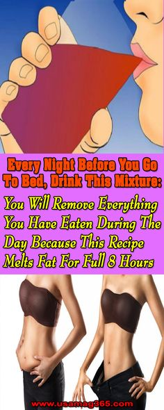 Every Night Before You Go to Bed, Drink This Mixture: You Will Remove Everything You Have Eaten During the Day Because This Recipe Melts Fat for Full 8 Hours – Health Awareness Media Fitness Workouts, Fitness Motivation, Weight Loss Tips, Lose Weight, Speed Up Metabolism, Natural Healing, Get In Shape, Healthy Life, Healthy Food