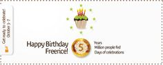 Happy Birthday Freerice!     5 years, 5 million people fed, 5 days to celebrate! Join the celebrations: http://Freerice.com/birthday