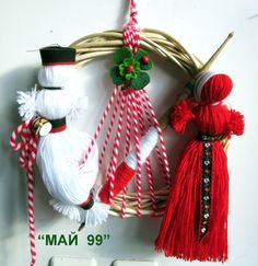 Christmas Crafts For Kids, Christmas Wreaths, Christmas Ornaments, Yarn Crafts, Diy And Crafts, 8 Martie, Handmade Decorations, Bellisima, Happy Birthday