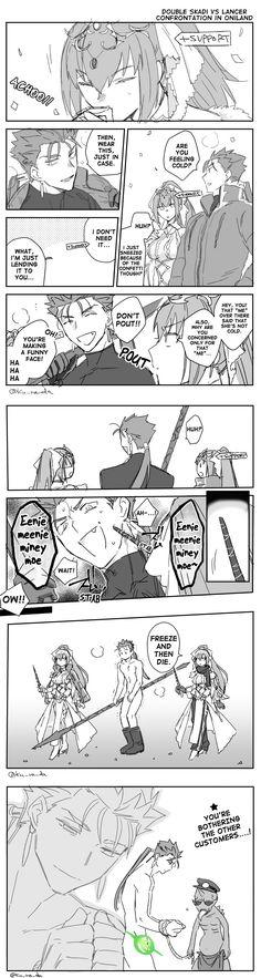 Double Skadi Oniland Fate Stay Night Series, Fate Stay Night Anime, Fate Servants, Fate Anime Series, Samurai Art, Fate Zero, Type Moon, Reference Images, Man Humor