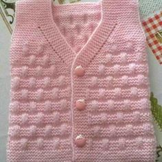 knitting for beginners materials knitting patterns christmas toys knitting patterns for xmas puddings Knit Vest Pattern, Crochet Jacket, Crochet Shawl, Chrochet, Fair Isle Knitting Patterns, Sweater Knitting Patterns, Baby Knitting, Crochet For Kids, Crochet Baby