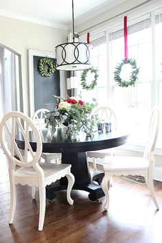 Red Turquoise Christmas Decor