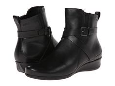 ECCO Abelone Cross Buckle Boot Black - Zappos.com Free Shipping BOTH Ways