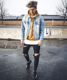 50 stylish ways to wear jeans for your everyday outfit .- 50 stylish ways to wear jeans for men's everyday outfit - Streetwear Men, Streetwear Fashion, Mode Outfits, Casual Outfits, Cheap Outfits, Winter Outfits Men, Outfit Winter, Look Man, Denim Jacket Men