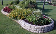 stone garden edging - Google Search