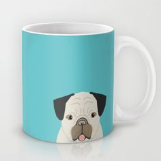 Dylan - Pug cute gift ideas for pug owners dog lover gifts and cell phone case with pug illustration