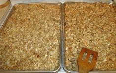 Homemade Granola!  Low sugar, high fiber and Omega 3's!