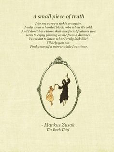 The Book Thief Quote. This has been one of my favorite books for the last couple years. I'm excited to see the movie. It will make me weep like a baby.
