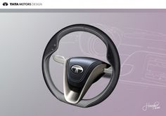Tata Pixel Concept - Steering Wheel Design Sketch