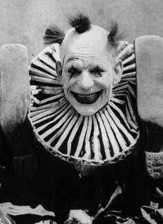 The Great Lon Chaney (1883-1930). His monsters really tapped into all of our fears; like clowns!
