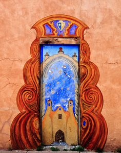 colorful door - Santa Fe, New Mexico