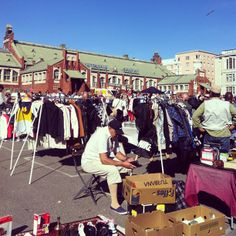 The biggest flee market in the summertime, every day.