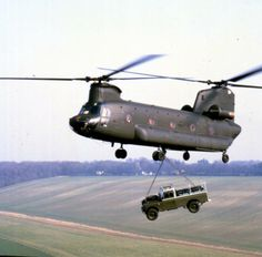 Land Rover airlift!