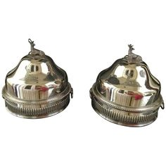 Pair Sheffield Food Warmers | From a unique collection of antique and modern sheffield and silverplate at https://www.1stdibs.com/furniture/dining-entertaining/sheffield-silverplate/