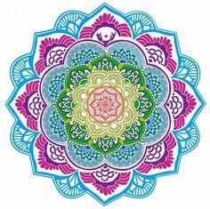 Chic Tassel Indian Mandala Lotus Printed - Beach Towel - Yoga Mat - Round Beach Blanket