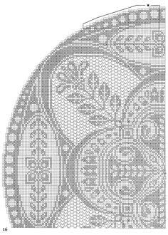 Pretty filet crochet (or 2 color cross stitch) Filet Crochet, Crochet Cross, Crochet Diagram, Crochet Home, Thread Crochet, Cross Stitch Pillow, Cross Stitch Fabric, Cross Stitch Embroidery, Cross Stitch Patterns