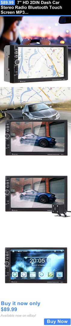 Vehicle Electronics And GPS: 7 Hd 2Din Dash Car Stereo Radio Bluetooth Touch Screen Mp3/Aux/Usb/Gps+ Camera BUY IT NOW ONLY: $89.99