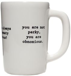 INTERVENTION COFFEE MUG $14.00 #housewares #mug #coffee #obnoxious