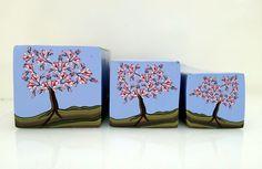 """Tree cane #42 """"Magnolia Tree"""" by Wendy Jorre de St Jorre"""