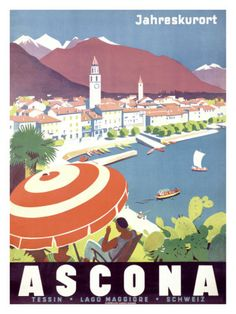 Ascona, Switzerland - Home of the Hotel Eden Roc and Albergo-Caffè Carcani @Hotel Eden Roc @Albergo-Caffè Carcani