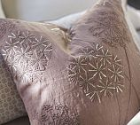 Starburst Embroidered Linen Pillow Cover