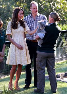 Kate, Will, and a koala.