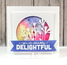 I am in awe of this card from Kristina Werner using the Fresh Daisies and Meadow Rue matched together with the Absolutely Delightful stamp set...