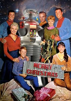Lost in space Bill Mumy, Marta Kristen, Mark Goddard, Jonathan Harris, June Lockhart, Guy Williams e Angela Cartwright *