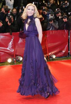 Pin for Later: Cate Blanchett Has the Most Impressive Red Carpet Résumé in Hollywood Cate Blanchett in Purple Yves Saint Laurent at the 2007 Berlin International Film Festival The rich purple hue on this ruffled Yves Saint Laurent gown really matched Cate's complexion at the 57th Berlin International Film Festival.