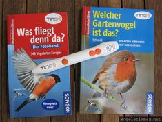 TING-Hörstift und Bücher zur Vogelbestimmung