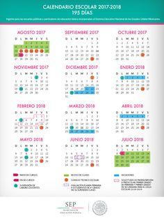 Calendario escolar para el ciclo escolar 2017 - 2018   Apoyo Primaria