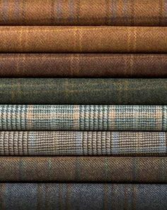 When in doubt, wear tweed. Natural earthy colours of woven tweed. Harris Tweed, Wool Fabric, Tartan Fabric, Suit Fabric, Tartan Plaid, Plaid Scarf, Mode Inspiration, British Style, Earth Tones