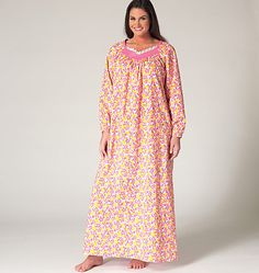 Women's sleepwear sewing pattern from Kwik Sew comes in sizes 1x to 4x. K4145, Women's Top, Nightgown and Pants