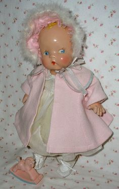 "Super RARE * Harriet Flanders 1937 Compo 17"" LITTLE CHERUB Baby by Averill"