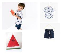 """Zara baby boy"" by aylinbagirova ❤ liked on Polyvore featuring men's fashion and menswear"