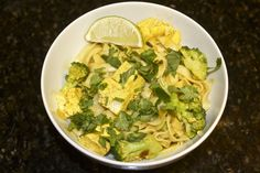 Thai Curry Noodles with Broccoli and Tofu