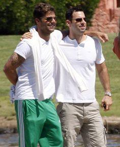 Ricky Martin & Carlos Gonzalez Abella  Carlos is SO lucky! I'll share Ricky!