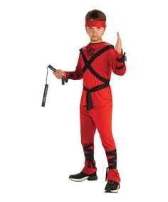 Look at this #zulilyfind! Red & Black Ninja Dress-Up Set - Boys by Rubie's #zulilyfinds