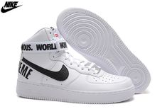 best loved 3decf 4eb5e air force one haut air force 1 mid blanche et noir