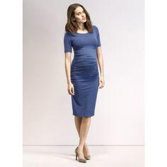 Ruched T Shirt Maternity Dress