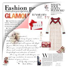 """""""Gucci"""" by missozlems ❤ liked on Polyvore featuring Gucci, Marc, Estée Lauder and Dolce Vita"""