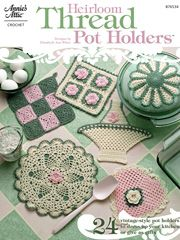 Heirloom Thread Pot Holders (downloadable for cost)