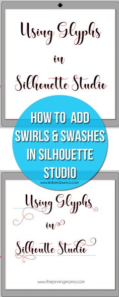 How to access and use glyphs in Silhouette Studio so that you can create custom designs with extra swirls, swashes, and extra special touches! This post was created in partnership with The Hungry J…