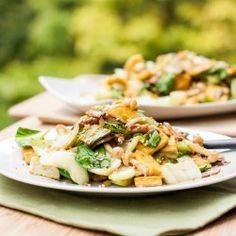 Tofu, Mushroom Bok Choy Stir Fry