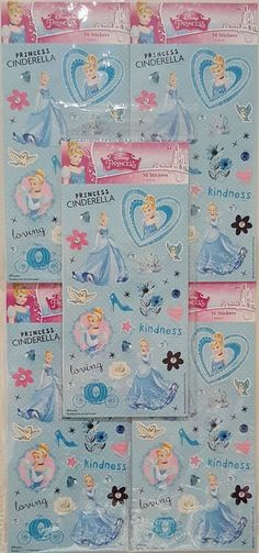 Disney Princess Cinderella Stickers 250 Total