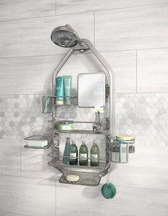 ARTIKA Adjustable Bathroom Caddy/Over-The-Shower Head/Door with Storage Shelves, Stainless-Steel Shower Mirror, Bathtub Shower, Shower Doors, Hanging Shower Caddy, Shower Storage, Bathroom Storage, Shower Caddies, Corner Shower Caddy, Shower Rack