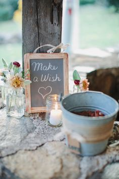 Make a Wish: http://www.stylemepretty.com/little-black-book-blog/2014/12/23/rustic-elegance-at-sweetwater-farm/ | Photography: Ciro - http://cirophotography.com/