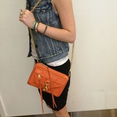 💥💥💥Rebecca Minkoff Mini Mac in Orange💥💥💥 Good condition. A little wear on corners. See pics. Soft broken in leather. Rebecca Minkoff Bags